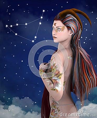 Free Zodiac Series - Capricorn Royalty Free Stock Photography - 36199587