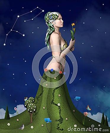 Free Zodiac Series - Virgo Royalty Free Stock Images - 36200069