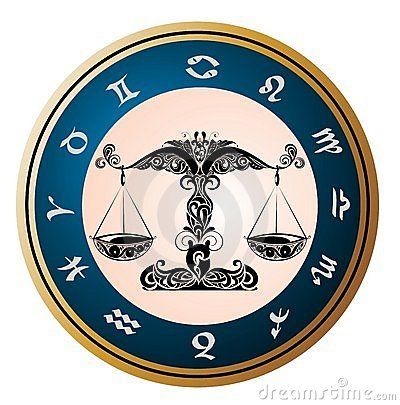 Royalty Free Stock Image: Zodiac signs - Libra.Tattoo design