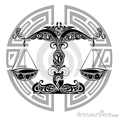 Zodiac signs - Libra.Tattoo design