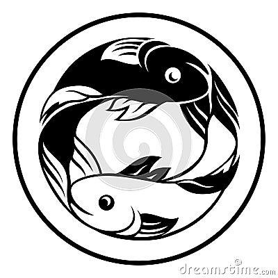 Free Zodiac Signs Pisces Fish Icon Stock Photos - 97010653