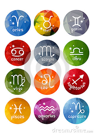 Free Zodiac Signs Set Royalty Free Stock Photography - 83583877