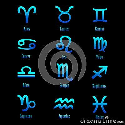 Zodiac signs - vector