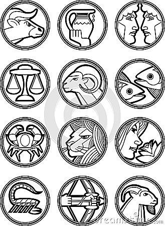 Zodiac Star Vector Signs 2
