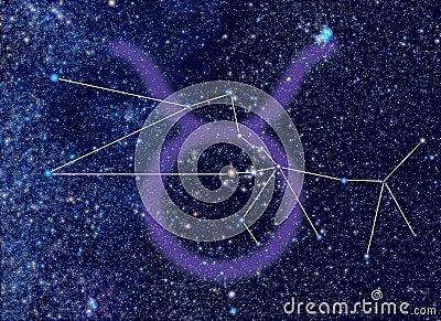 Zodiac Taurus stars