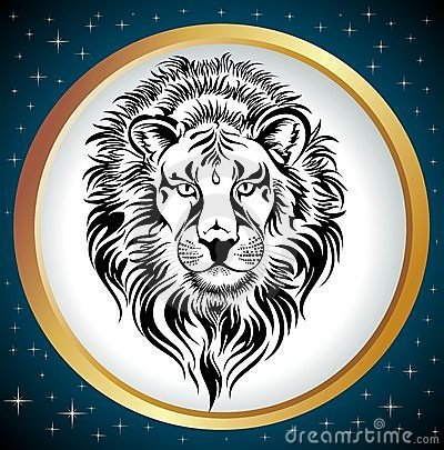 Zodiac Wheel with sign of Leo.