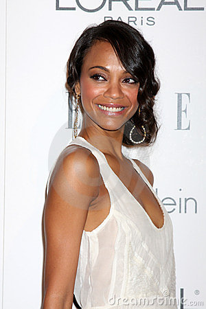 Zoe Saldana Editorial Stock Photo