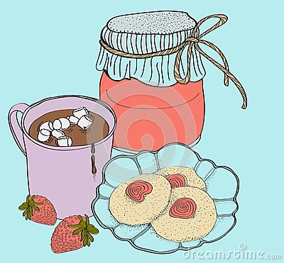 Zoete ontbijtkaart