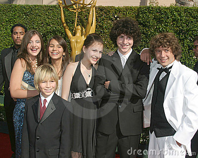 Zoey 101 Cast Creative Arts Emmy Awards Shrine Auditorium September 11, 2005 Editorial Stock Photo