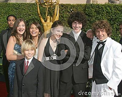 Zoey 101 het Gegoten Creatieve Auditorium 11 September, 2005 van het Heiligdom van de Toekenning van Emmy van Kunsten Redactionele Stock Foto