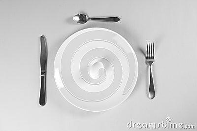 Piatto bianco e dieta