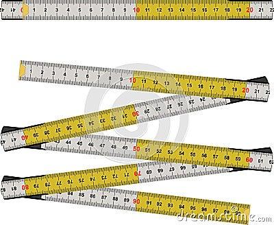 Zollstock vektor abbildung bild 40028232 - Metro para medir ...