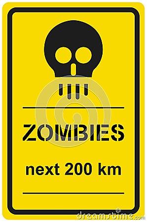 Zombie 200 chilometri seguenti del segno di vettore