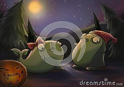 halloween zombie animal