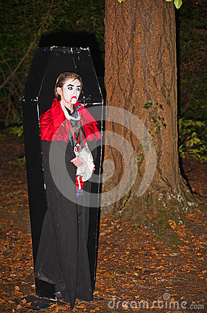 Zombie in a coffin Editorial Photo