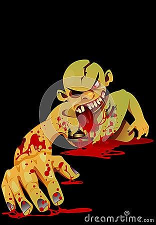 Zombie crawling