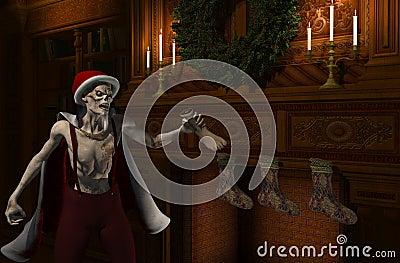 Zombie för julfaderstockingfiller