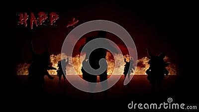 Zombie Fire Happy Halloween stock video footage