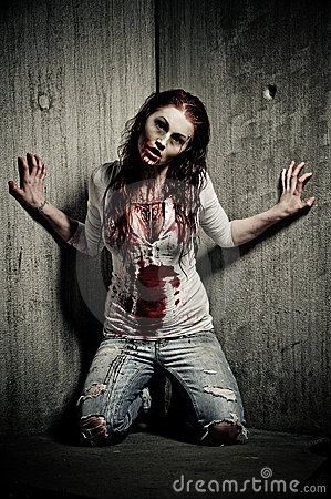 Free Zombie Girl Royalty Free Stock Image - 14369536