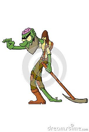 Free Zombie Goldminer Stock Photo - 34362550