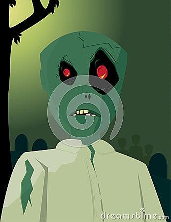 Zombie in graveyard 2