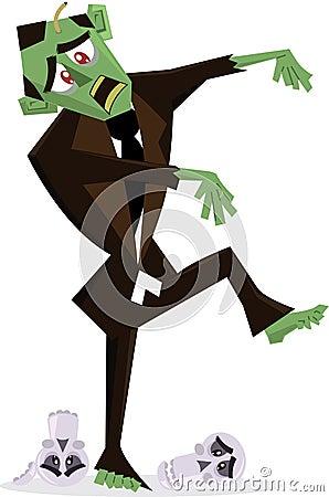 Zombie halloween character  illustration