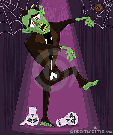 Zombie halloween character vector illustration