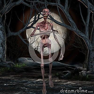 Zombie - Halloween Scene