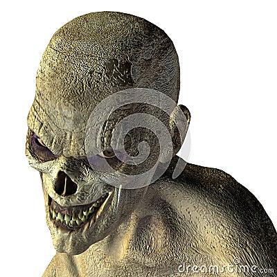 Free Zombie Head With Evil Eye Royalty Free Stock Photos - 15404448
