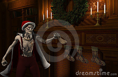 Zombie Kerstman - Stockingfiller