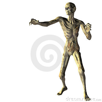 Zombie with outstretched hand