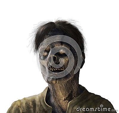 Zombie Portrait - on white