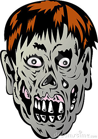 Zombie with rotting face