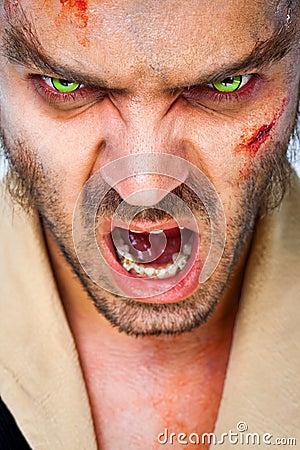 Zombie scary eyes