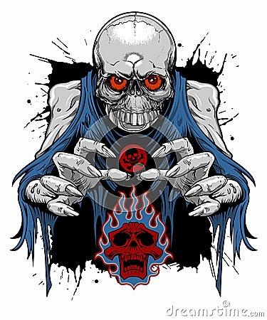Free Zombie Skull Royalty Free Stock Photography - 49415607