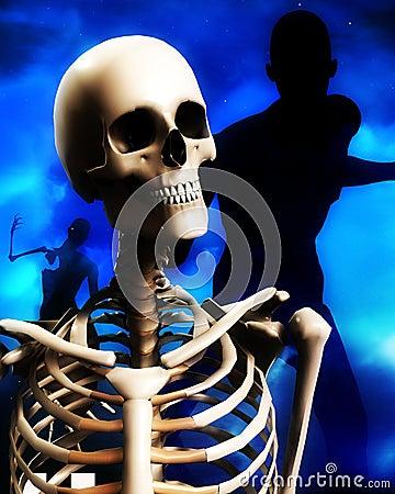 Zombie And Skull Head 2