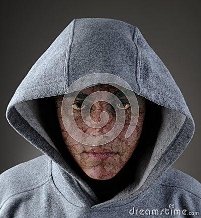 Zombie Teen in Hoodie