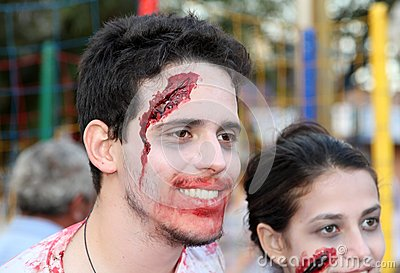 Zombie walk in Brazil Editorial Image