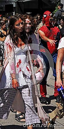 Zombie Walk - Vancouver 2008 Editorial Stock Photo