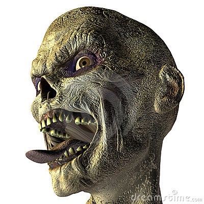 Free Zombie With Outstretched Tongue Royalty Free Stock Photography - 15396497