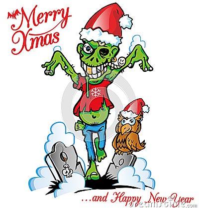 Free Zombie Xmas Royalty Free Stock Photography - 35753327