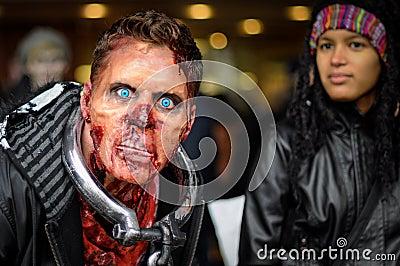 Zombiegang Redactionele Stock Foto