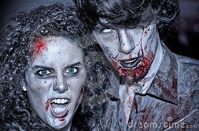 Zombies couple Editorial Photo