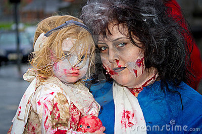 Zombies family Editorial Image