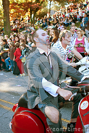 Zombies Ride Motorcycles In Halloween Parade Editorial Photography
