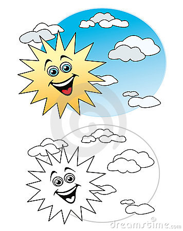 Zon in de hemel