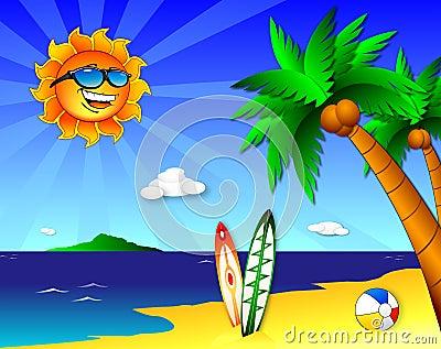 Zon en pret op het Strand