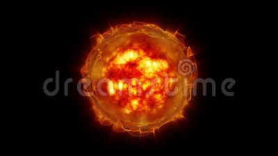 Zon en zonneactiviteit stock footage
