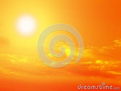 Zon, hemel en wolken