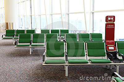 Zona de espera en el aeropuerto internacional de Hong-Kong